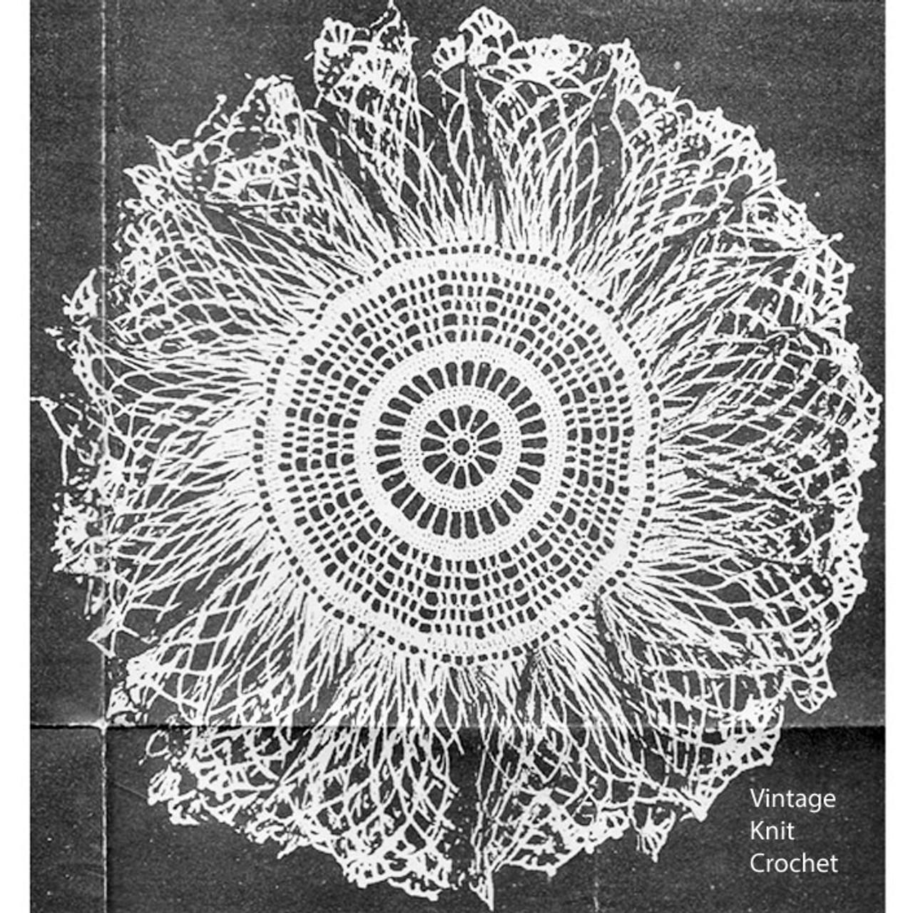 Anne Cabot Ruffled Doily Crochet Pattern