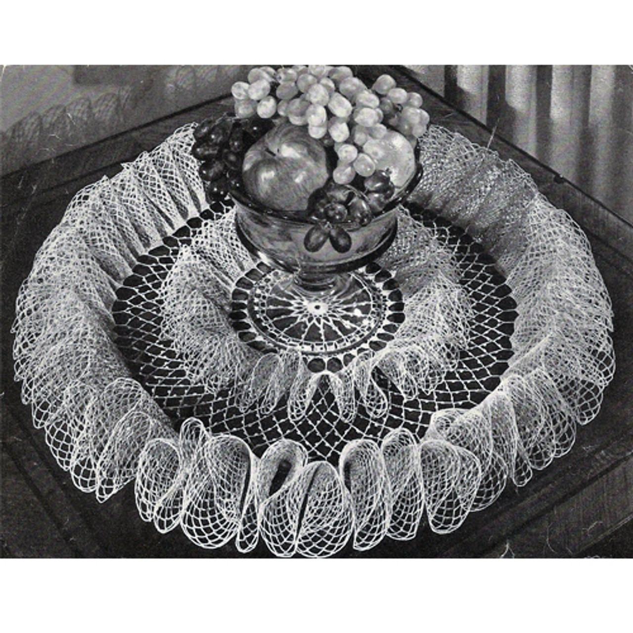 Party Frills Double Ruffle Crochet Doily Pattern