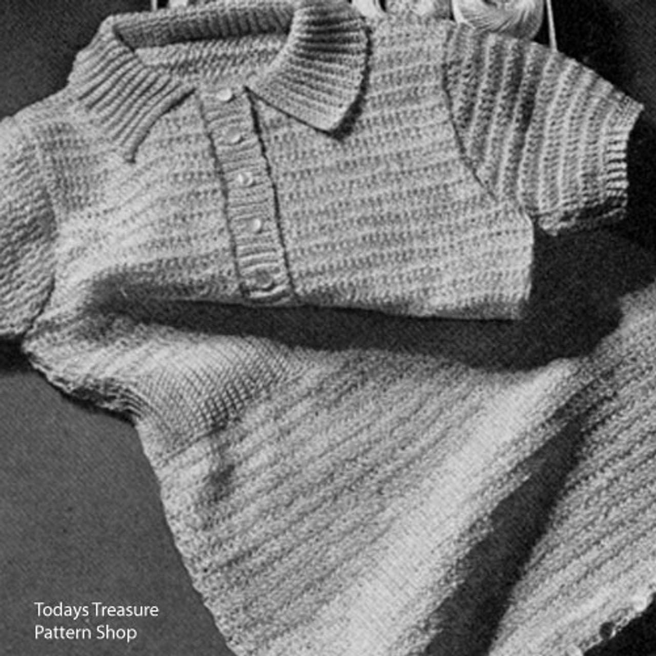 Crocheted Rompers Pattern, Short Sleeves