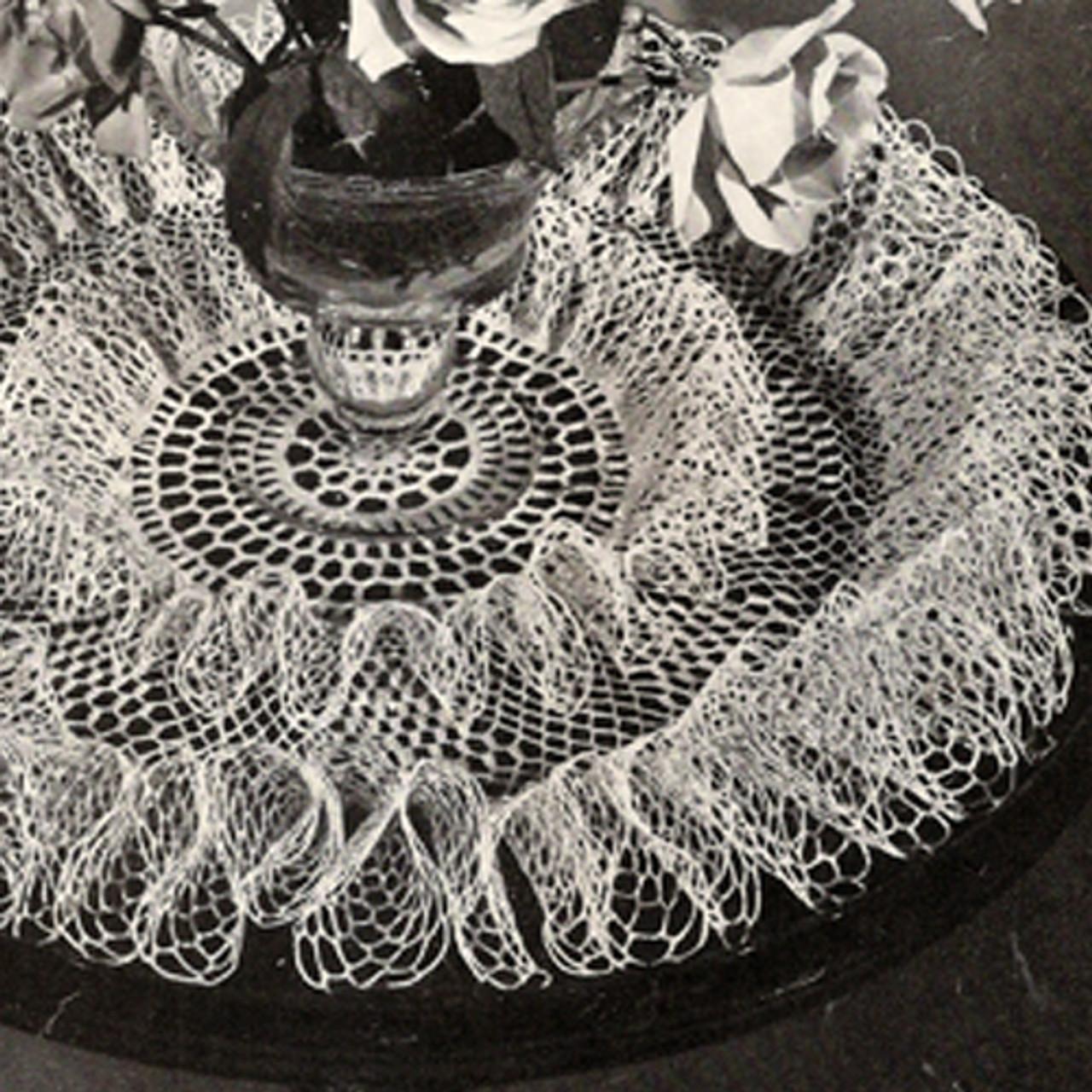 Ruffled Rose Doily, Crochet Pattern