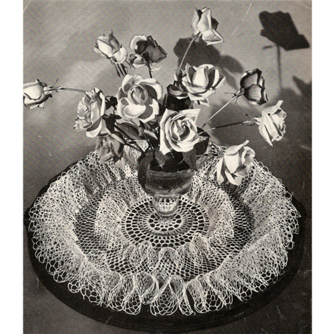 Double Rose Ruffled Doily Crochet Pattern