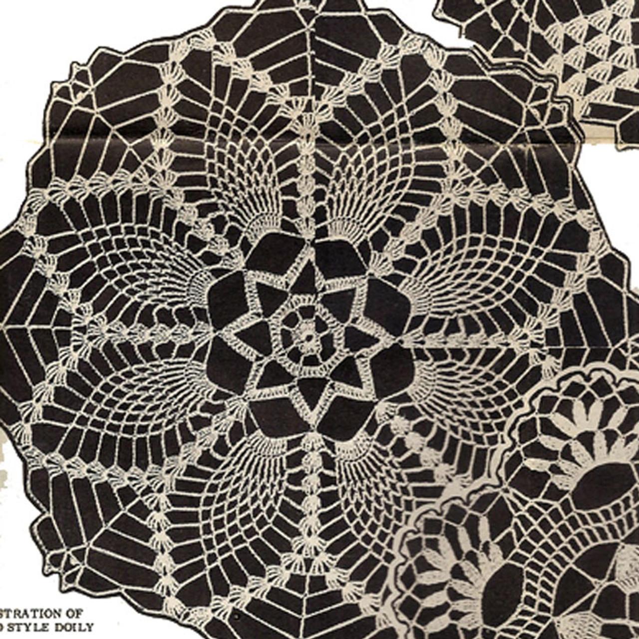 Vintage Crochet Pineapple Doily Pattern