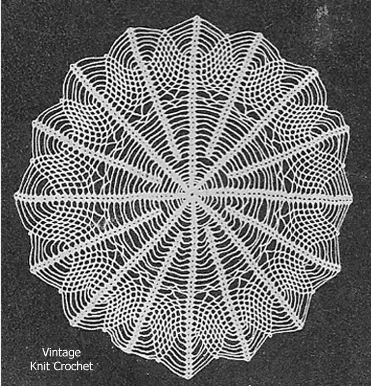 Web Doily Crochet Pattern, Vintage Knit Crochet Pattern Shop