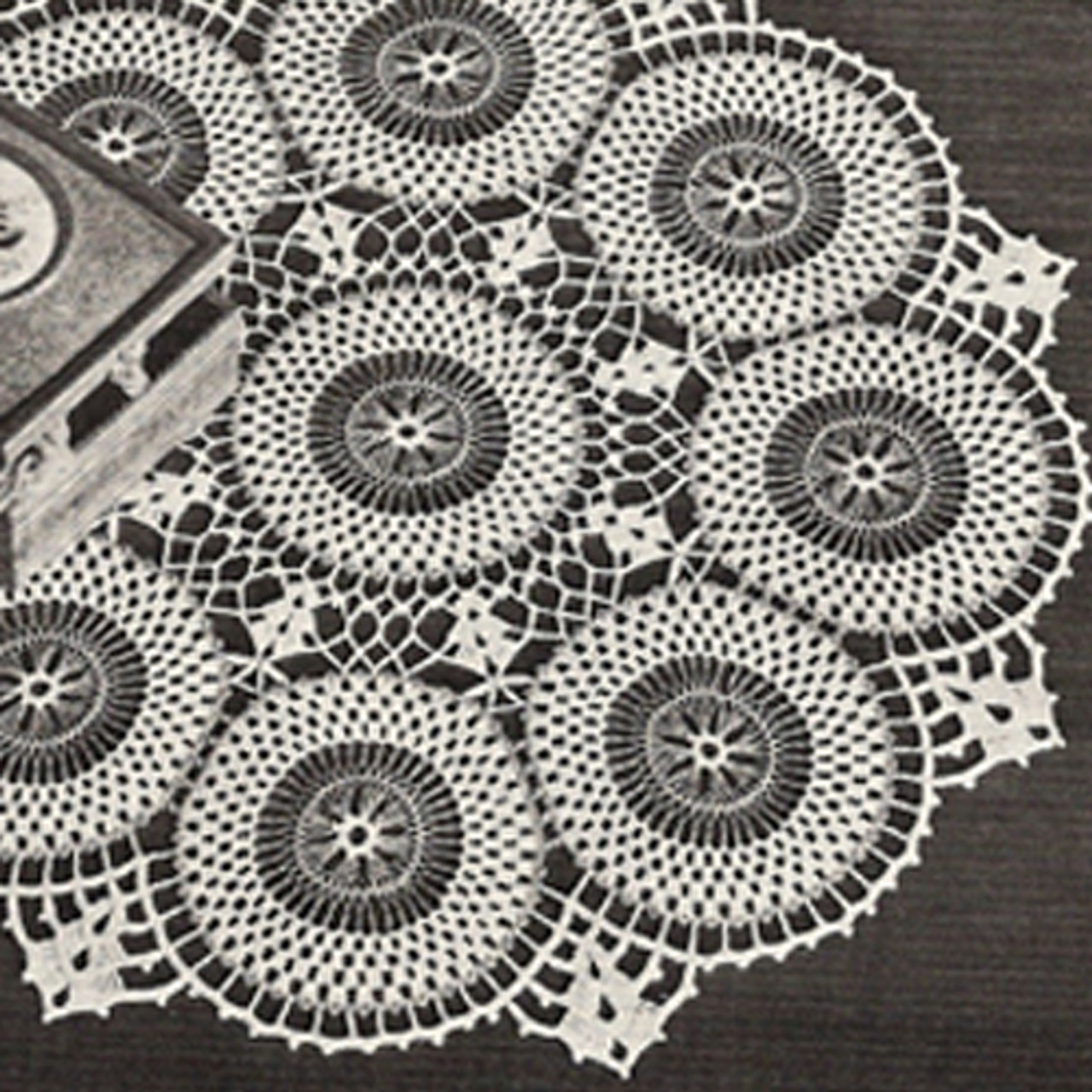 Lily Mills Circled Doily Crochet Pattern