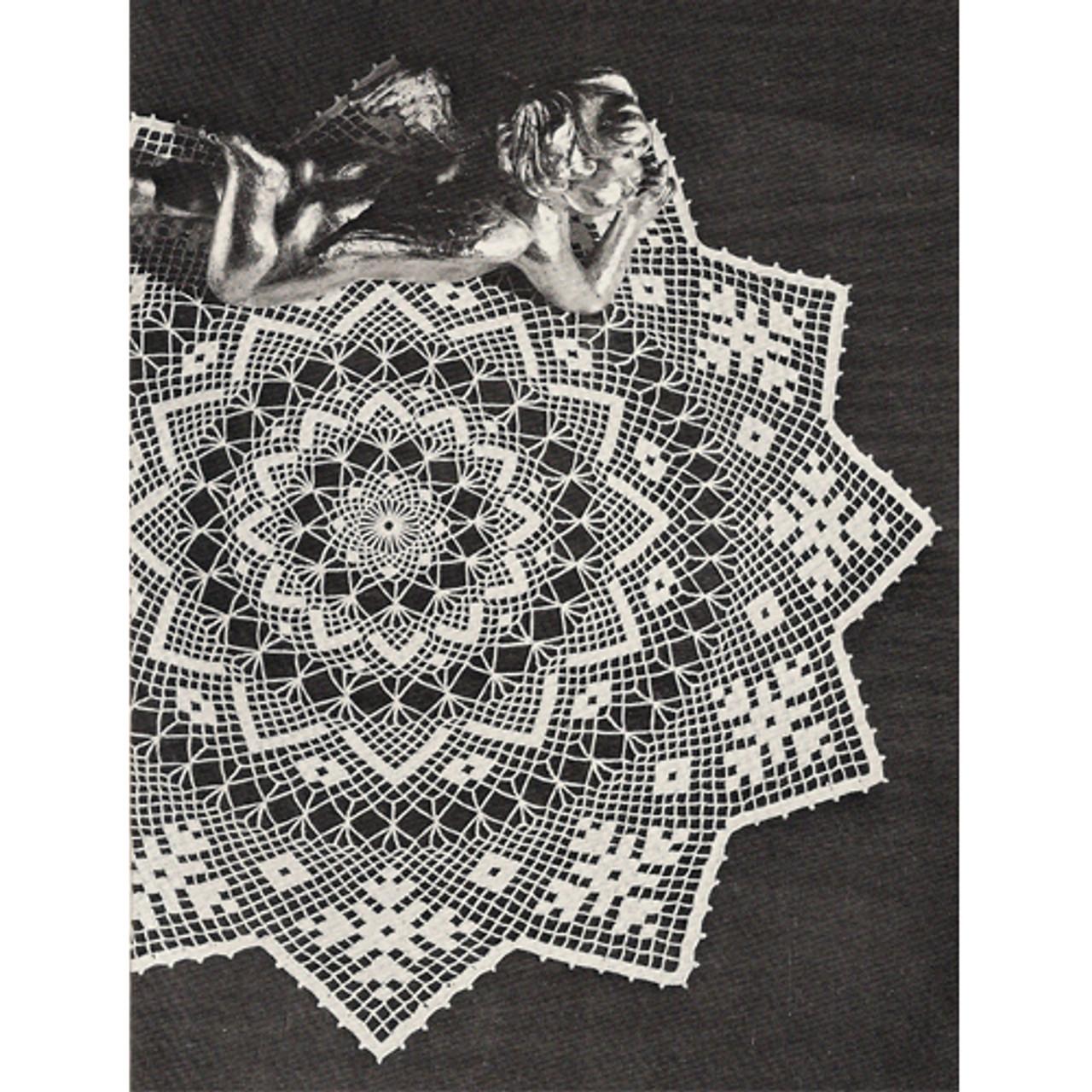 Crocheted Netted Doily Crochet Pattern
