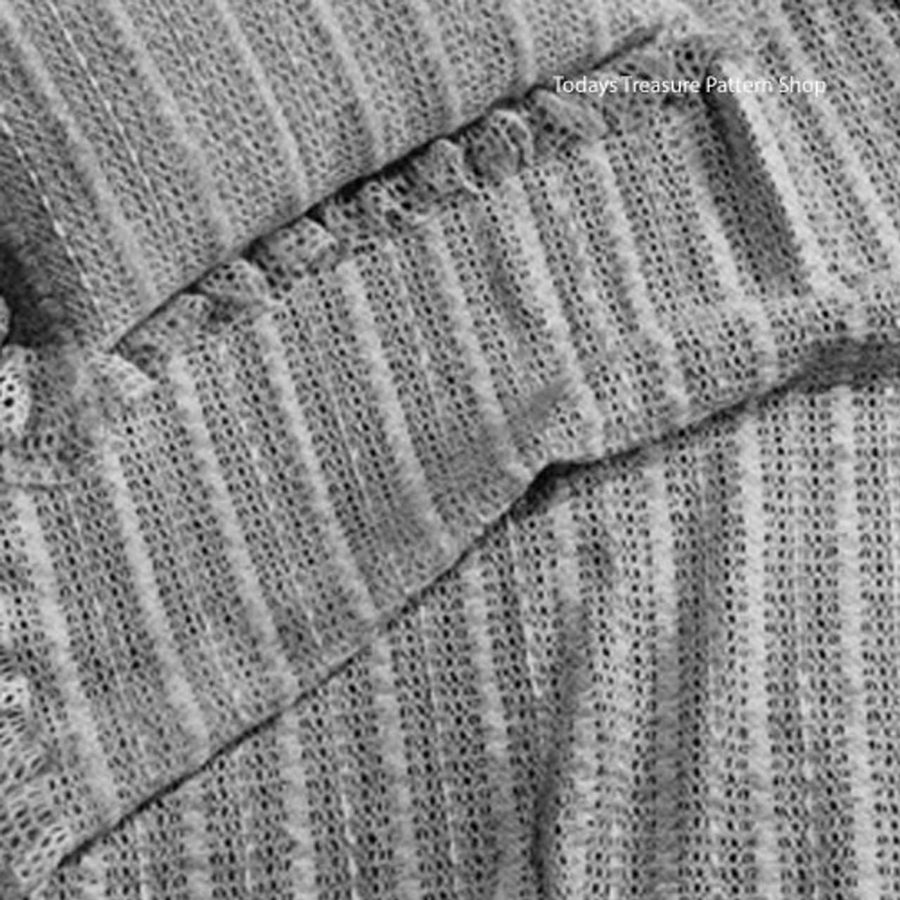 Ribbon Crocheted Baby Blanket Pattern