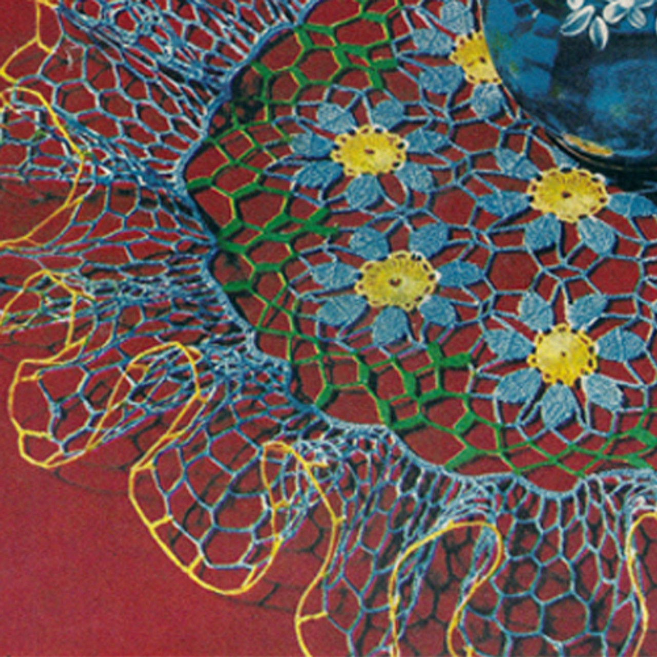 Flower Ruffled Crochet Doily Pattern