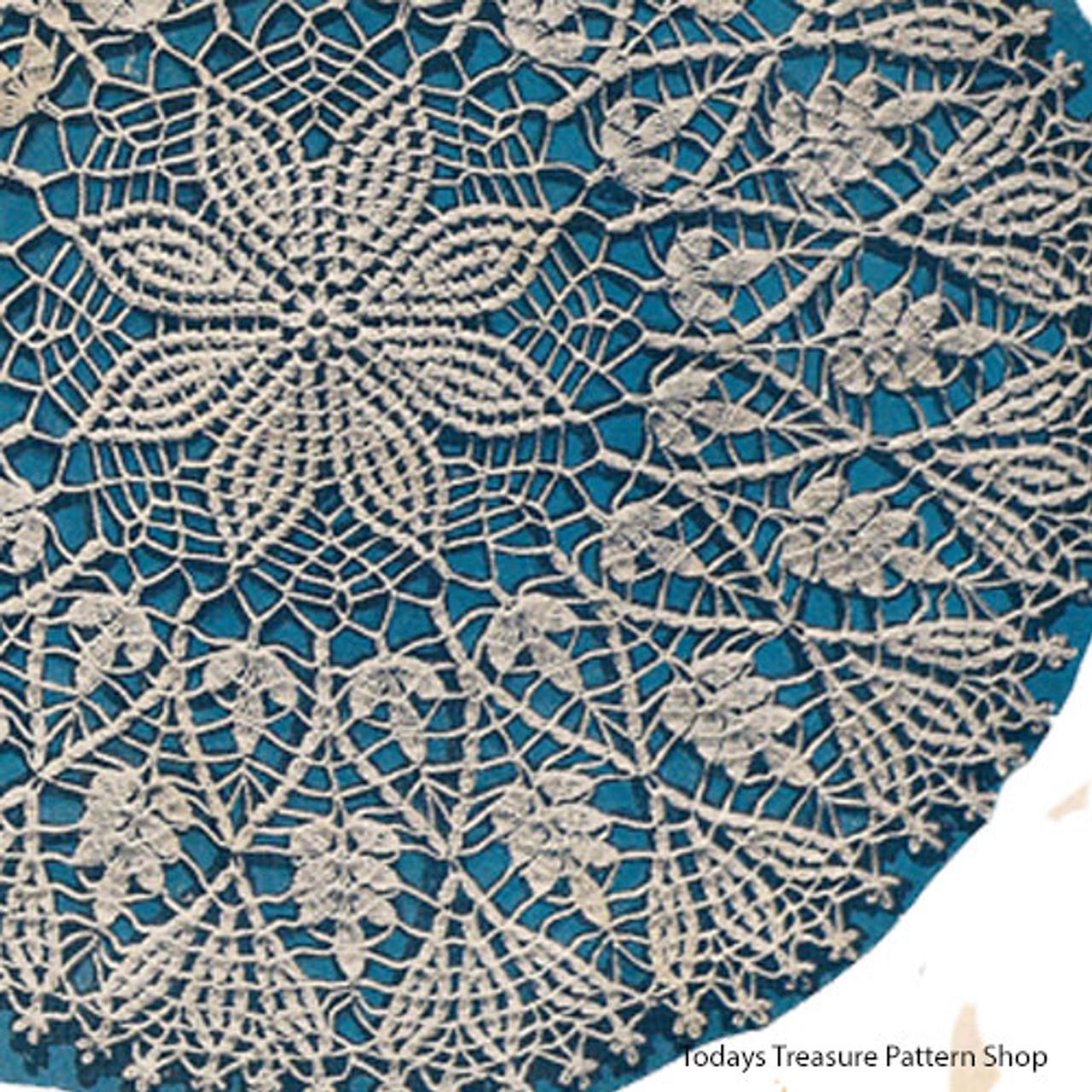 Cluster Stitch Crochet Flower Wheat Doily pattern