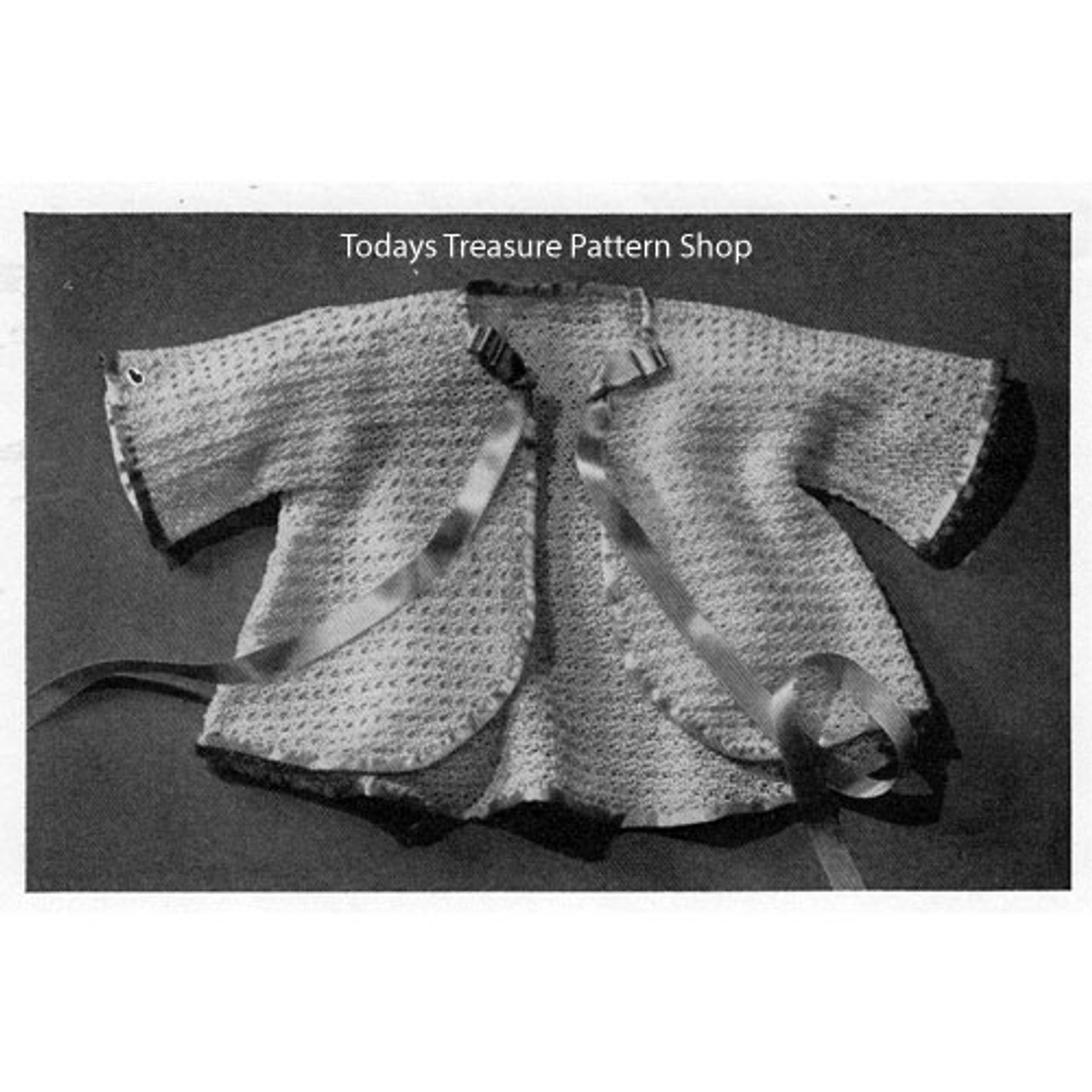 Crocheted Butterfly Jacket Baby Crochet Pattern