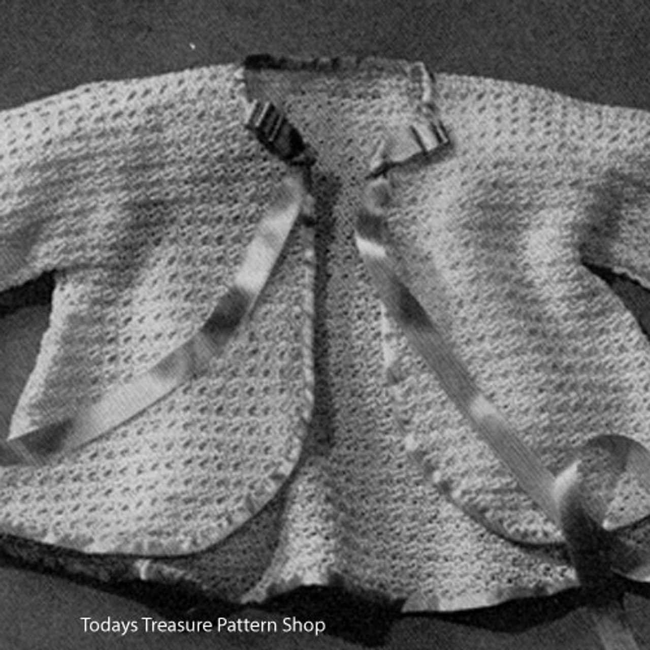 Easy Crocheted Baby Jacket Pattern
