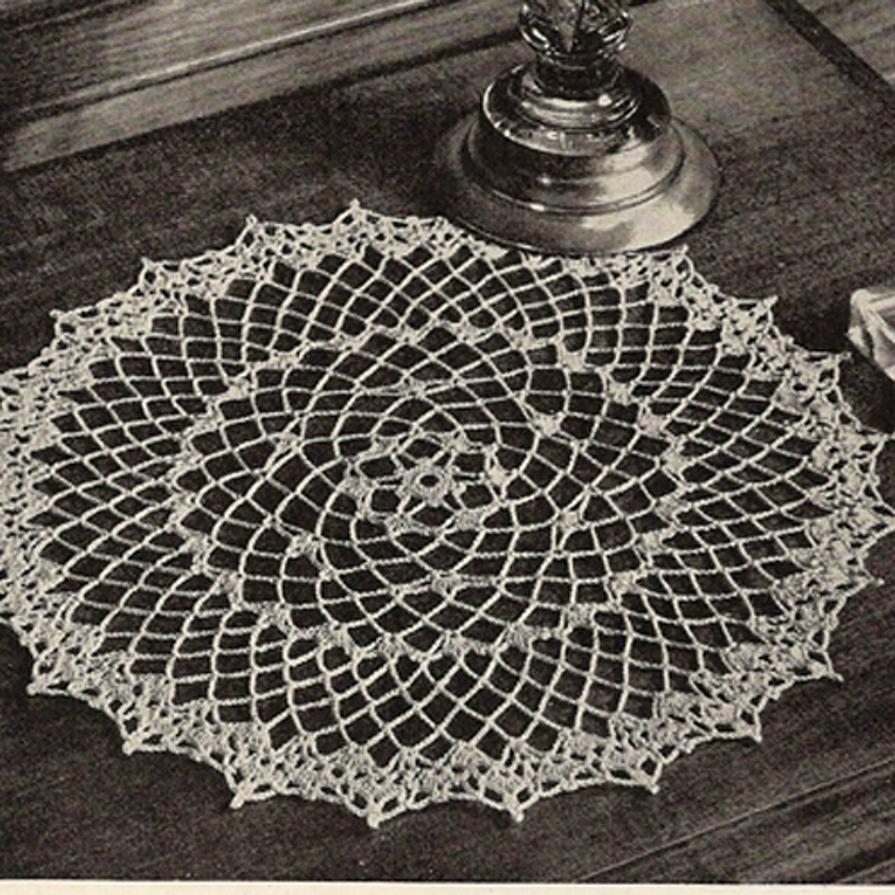 American Thread Picot Doily Crochet Pattern