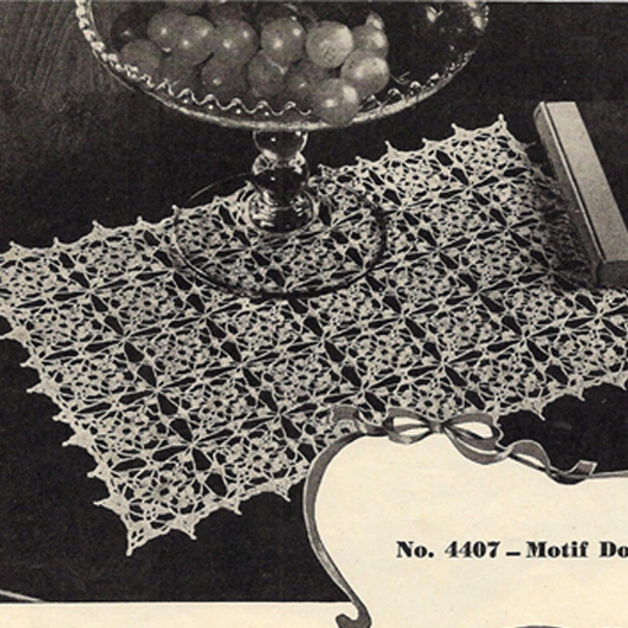Vintage Crocheted Flower Mat Pattern