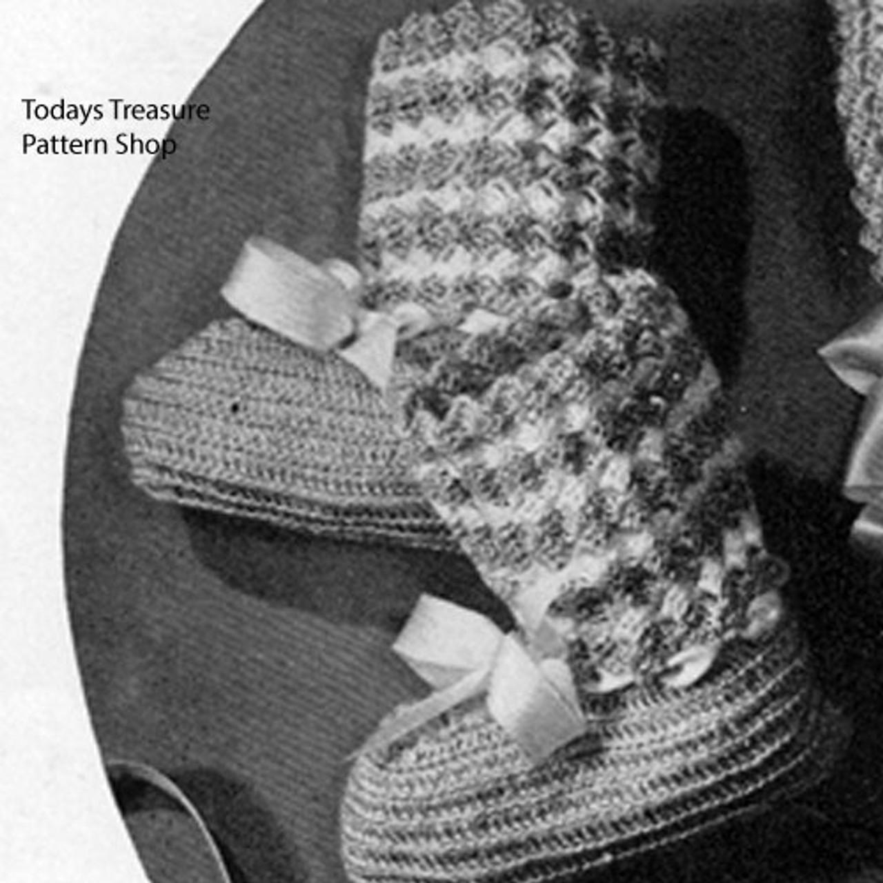 Crochet High Top Baby Booties