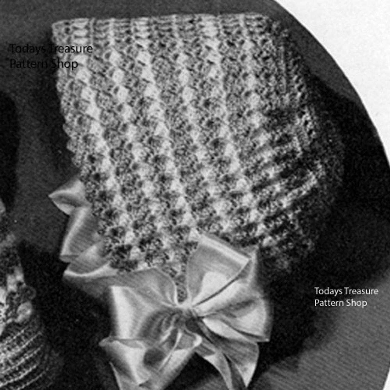 Two Tone Crocheted Baby Bonnet Pattern