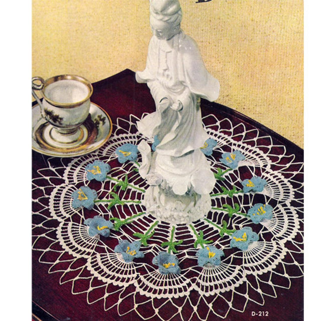 Crocheted Blue Bells Doily Pattern