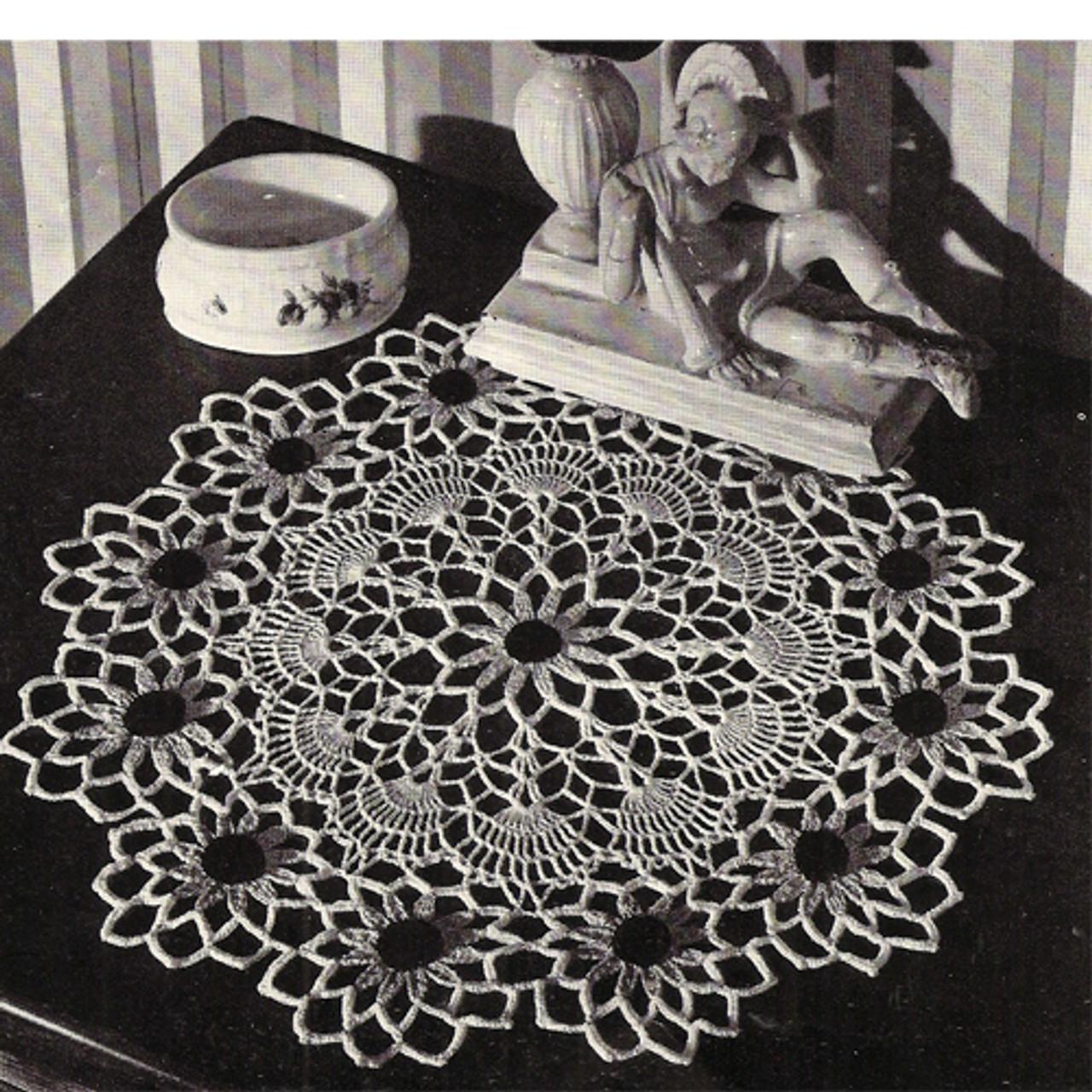 Crochet Black Eyed Susan Doily pattern