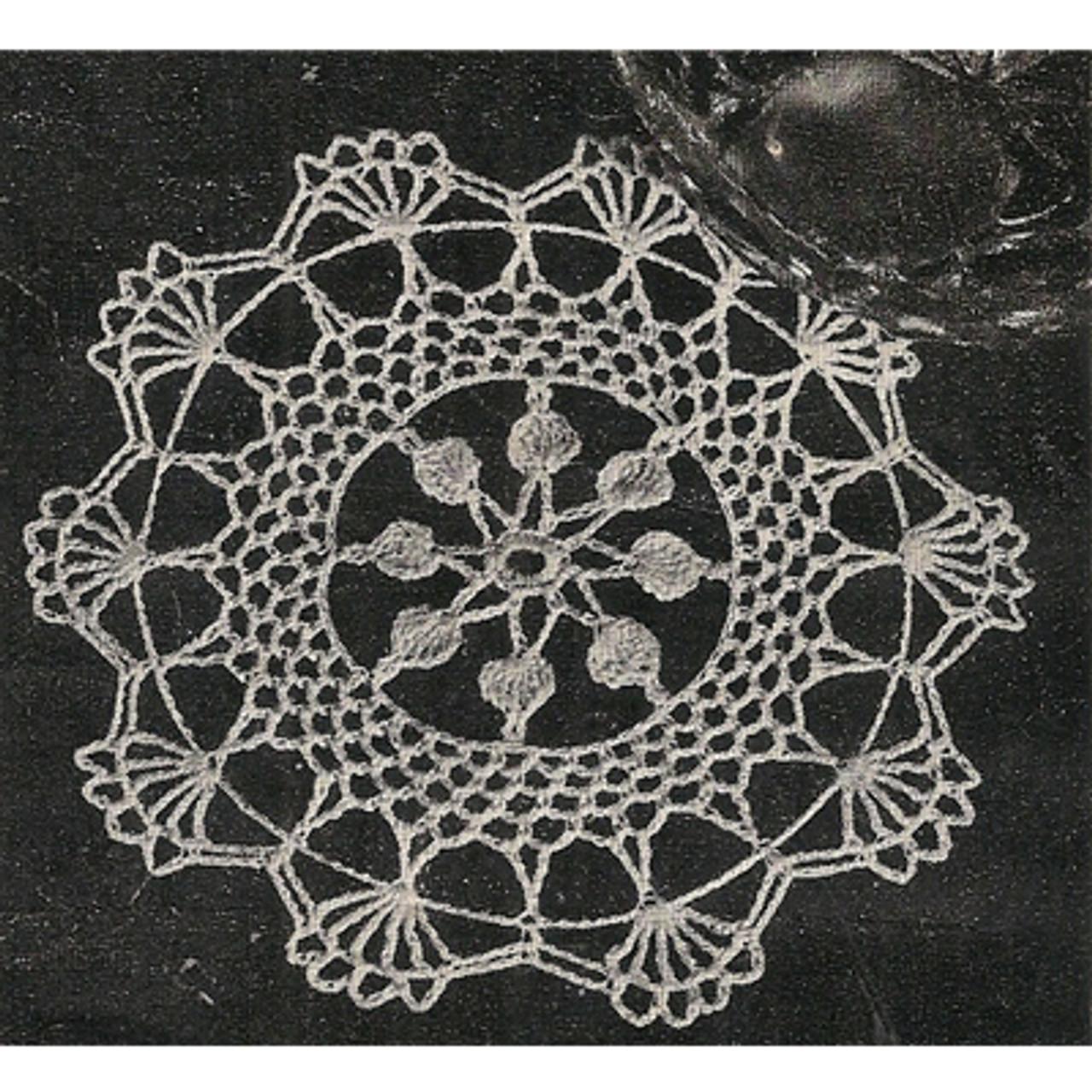 Scalloped Shell Crochet Doily Pattern