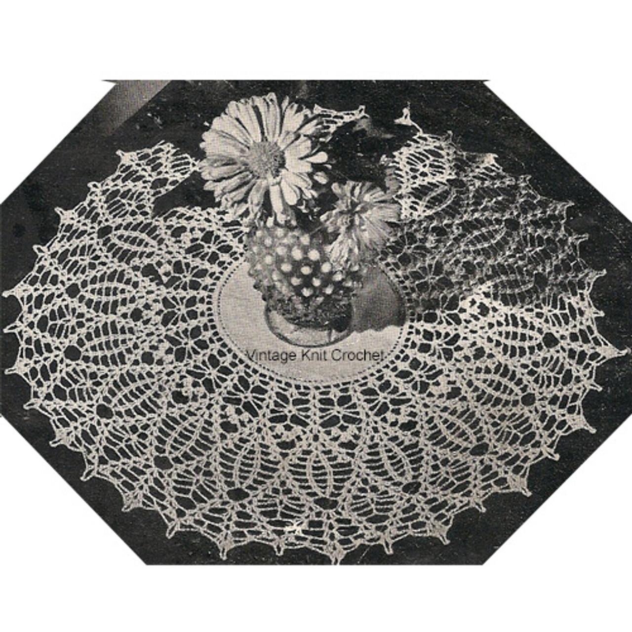 Crochet Pineapple Doily Pattern No 7810, Vintage 1940s