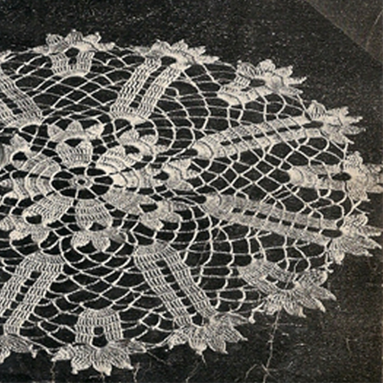 Crocheted Vintage Tulip Doily Pattern