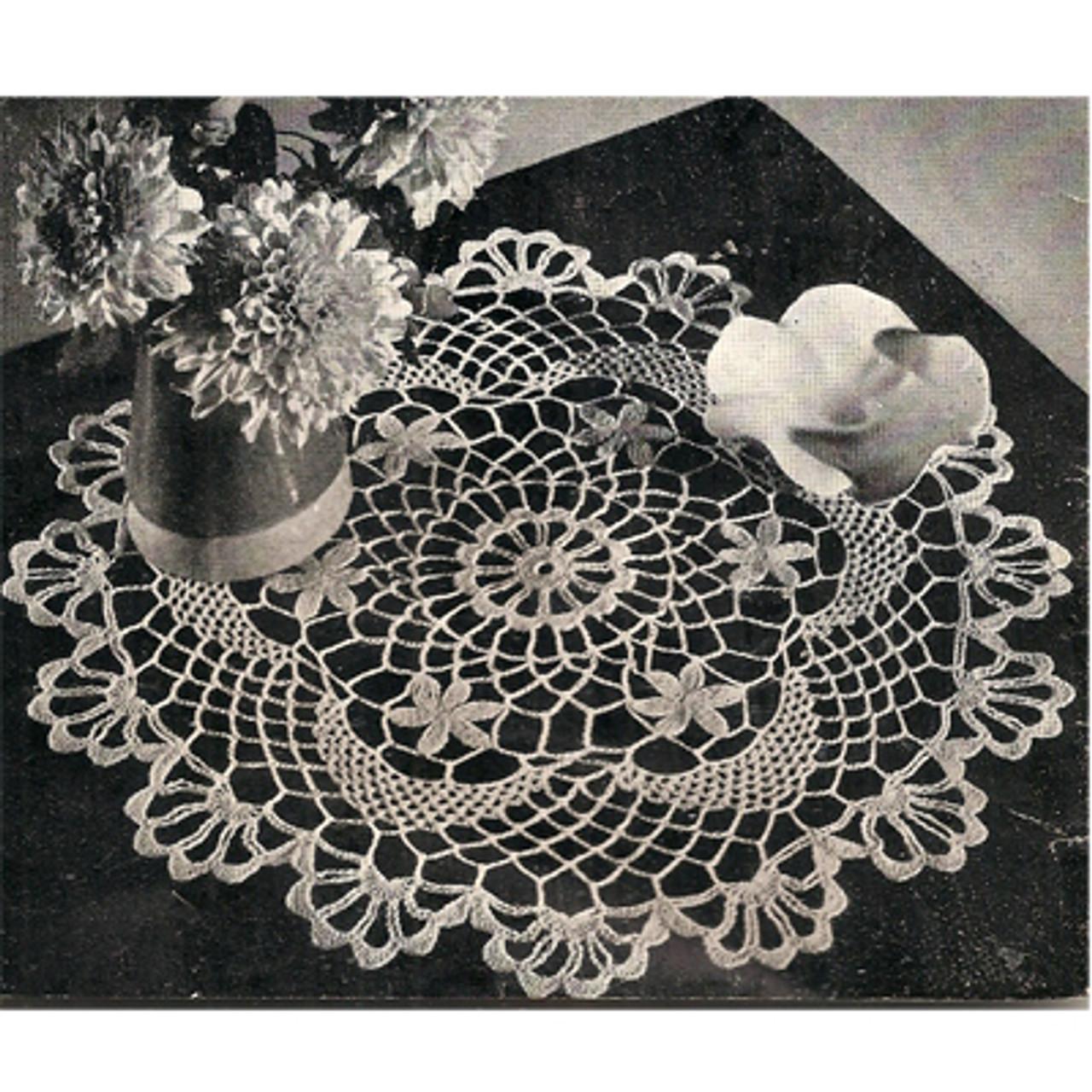 Daisy Shell Crocheted Doily Pattern