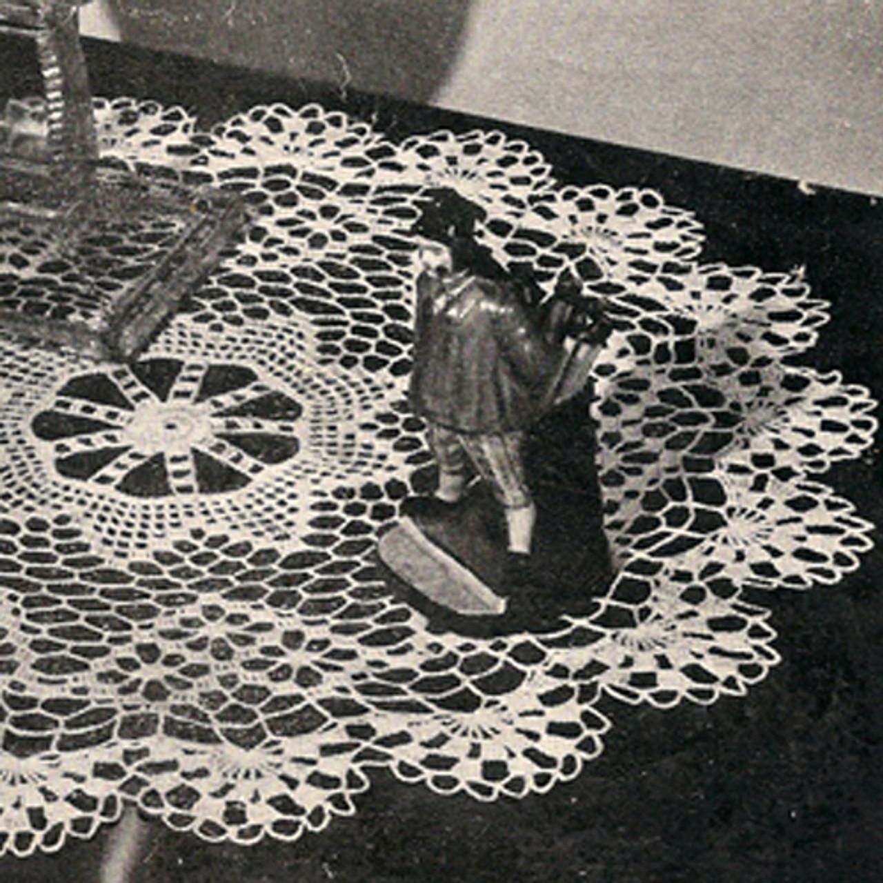 Vintage Shell Scalloped Crochet Doily Pattern