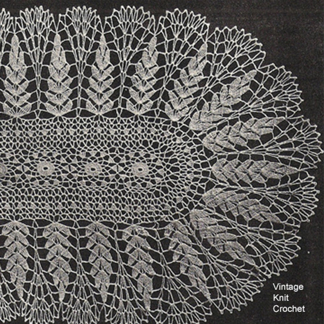 Wheat Crochet Runner Pattern