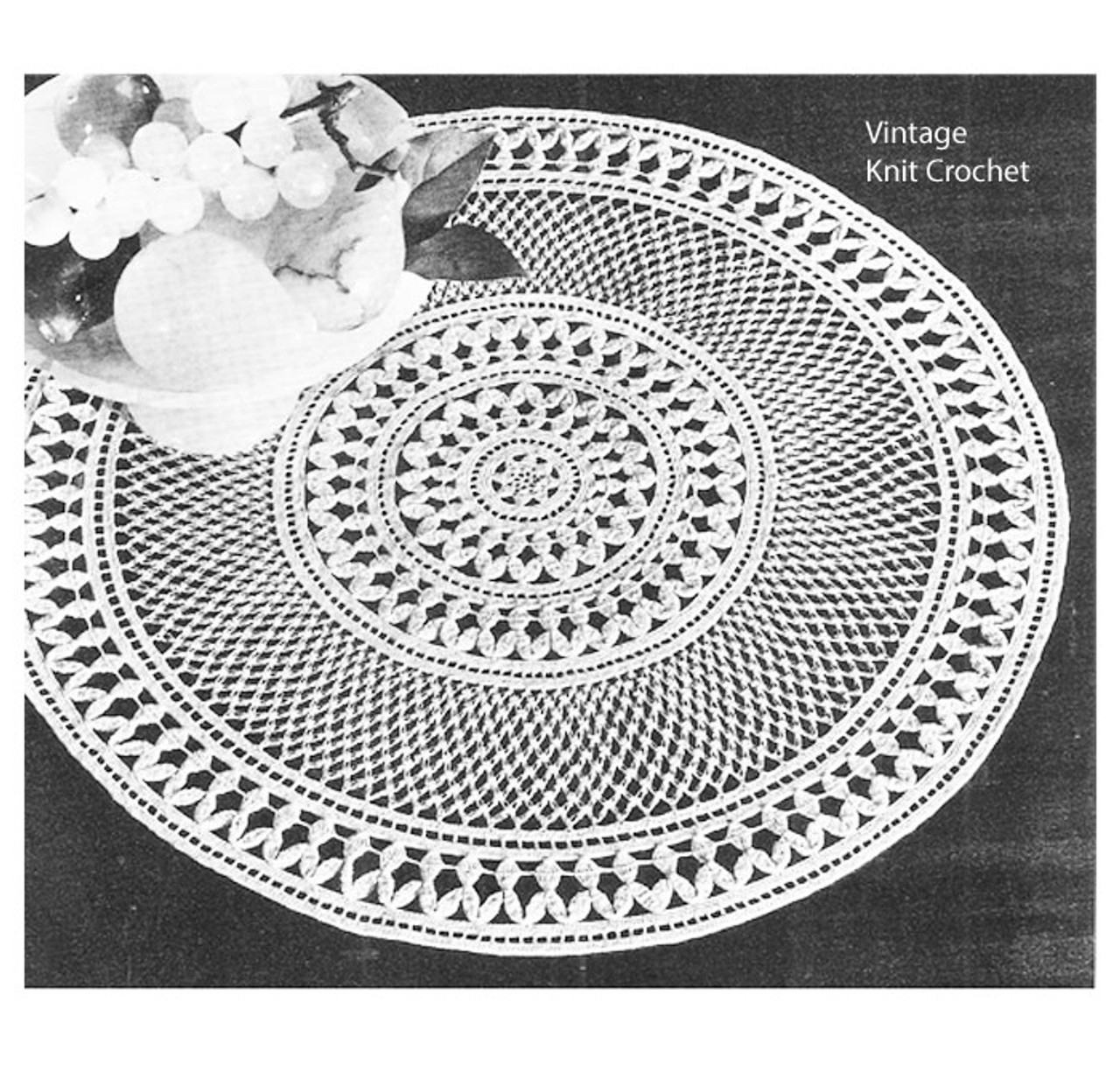 Crochet Centerpiece Doily pattern, Enchantment