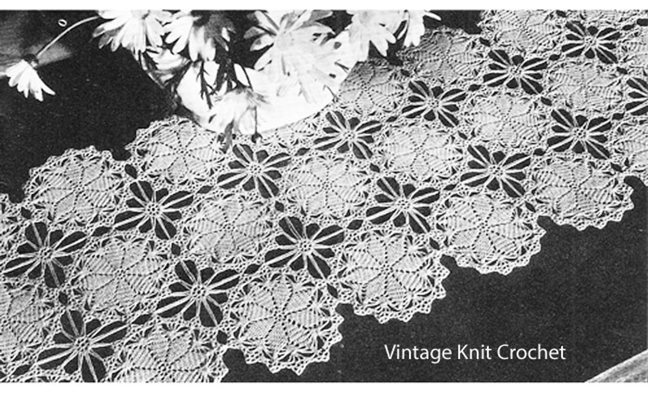 Crochet Runner Pattern, Star Medallions