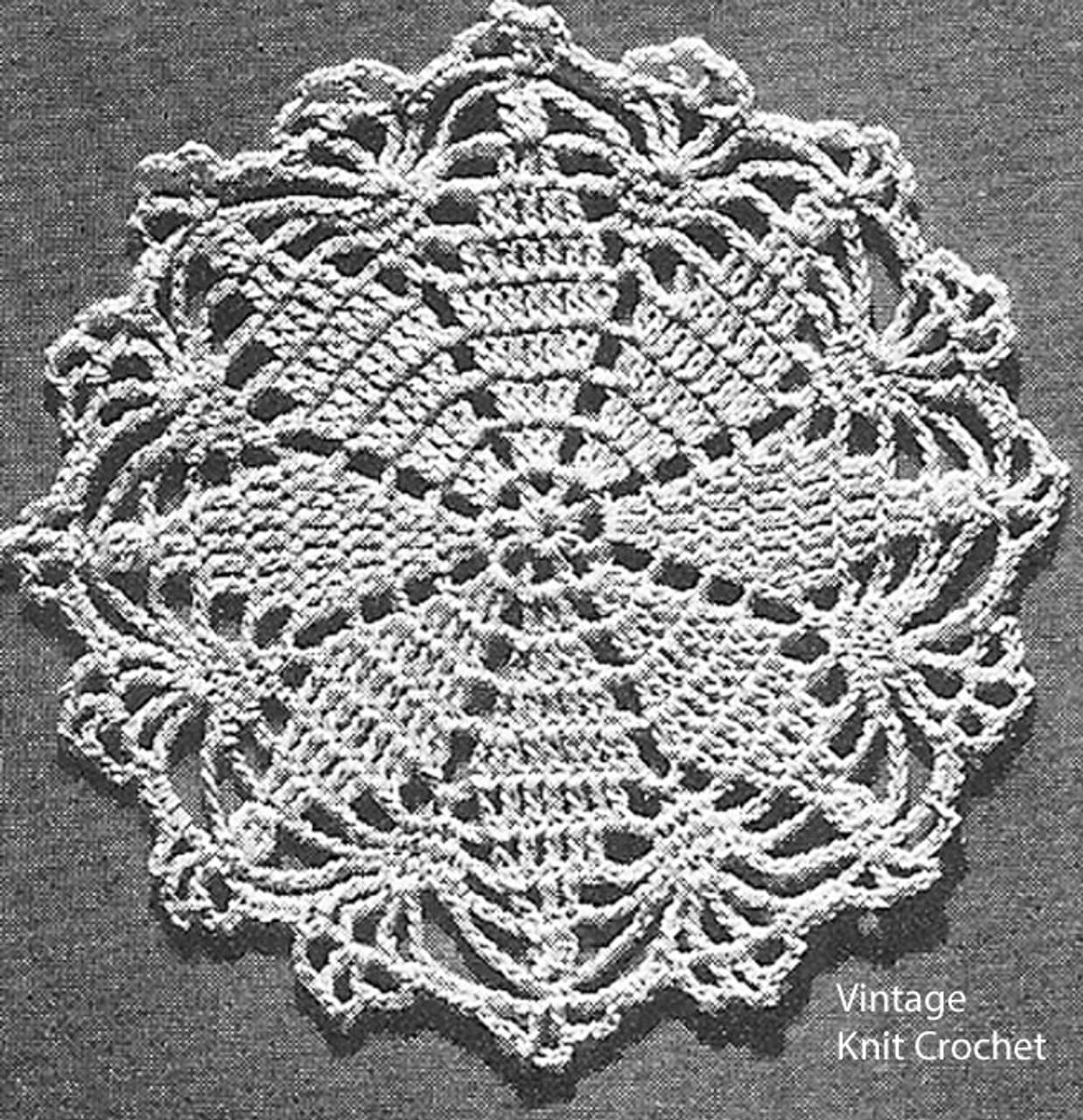 Crocheted Round Medallion Pattern No 7144