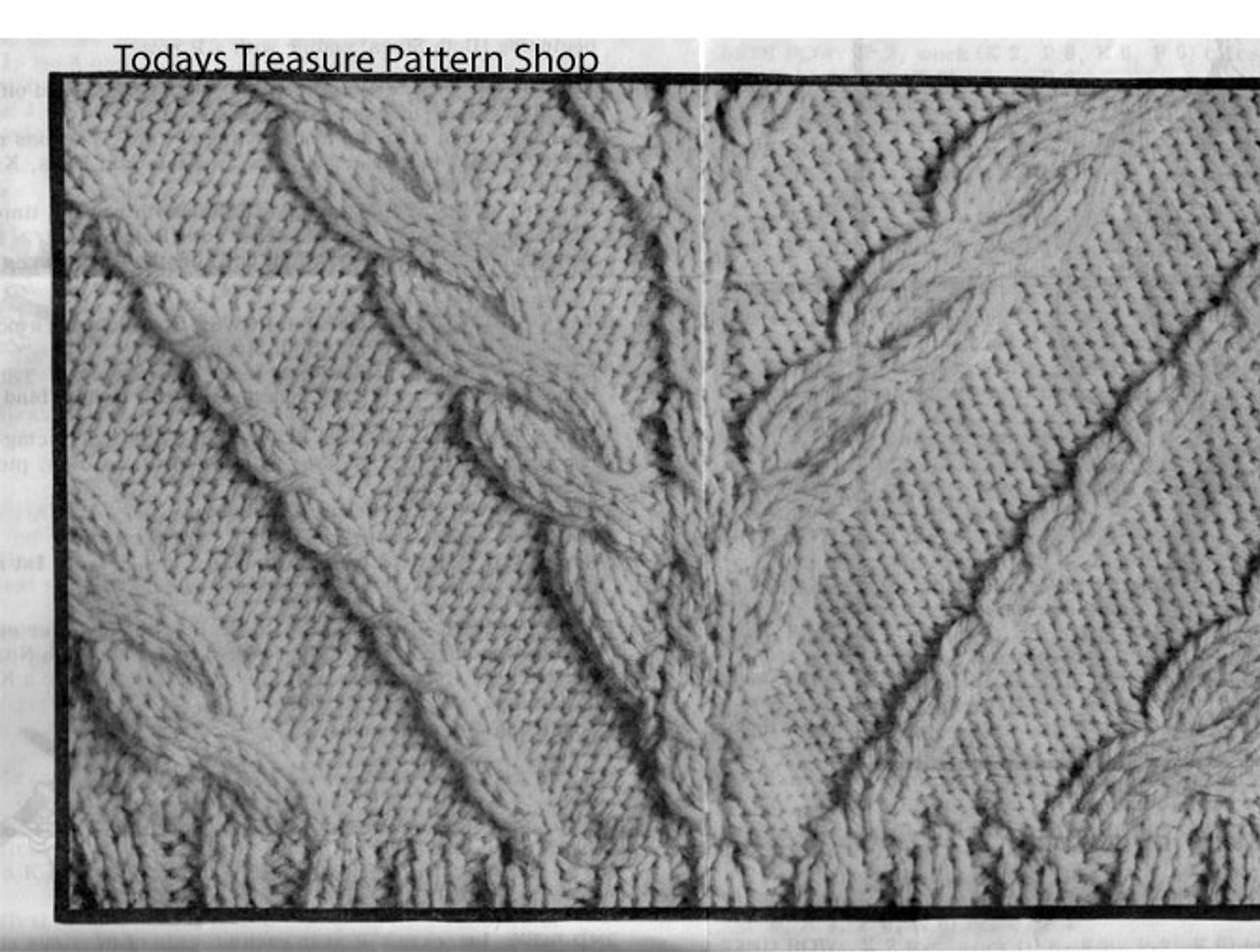 Cable Pullover Knitted Pattern Stitch