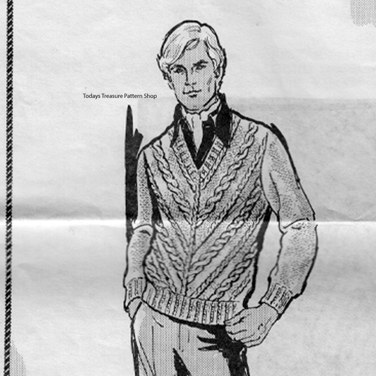 Mail Order Design 931 Mans Knitted Pullover Pattern
