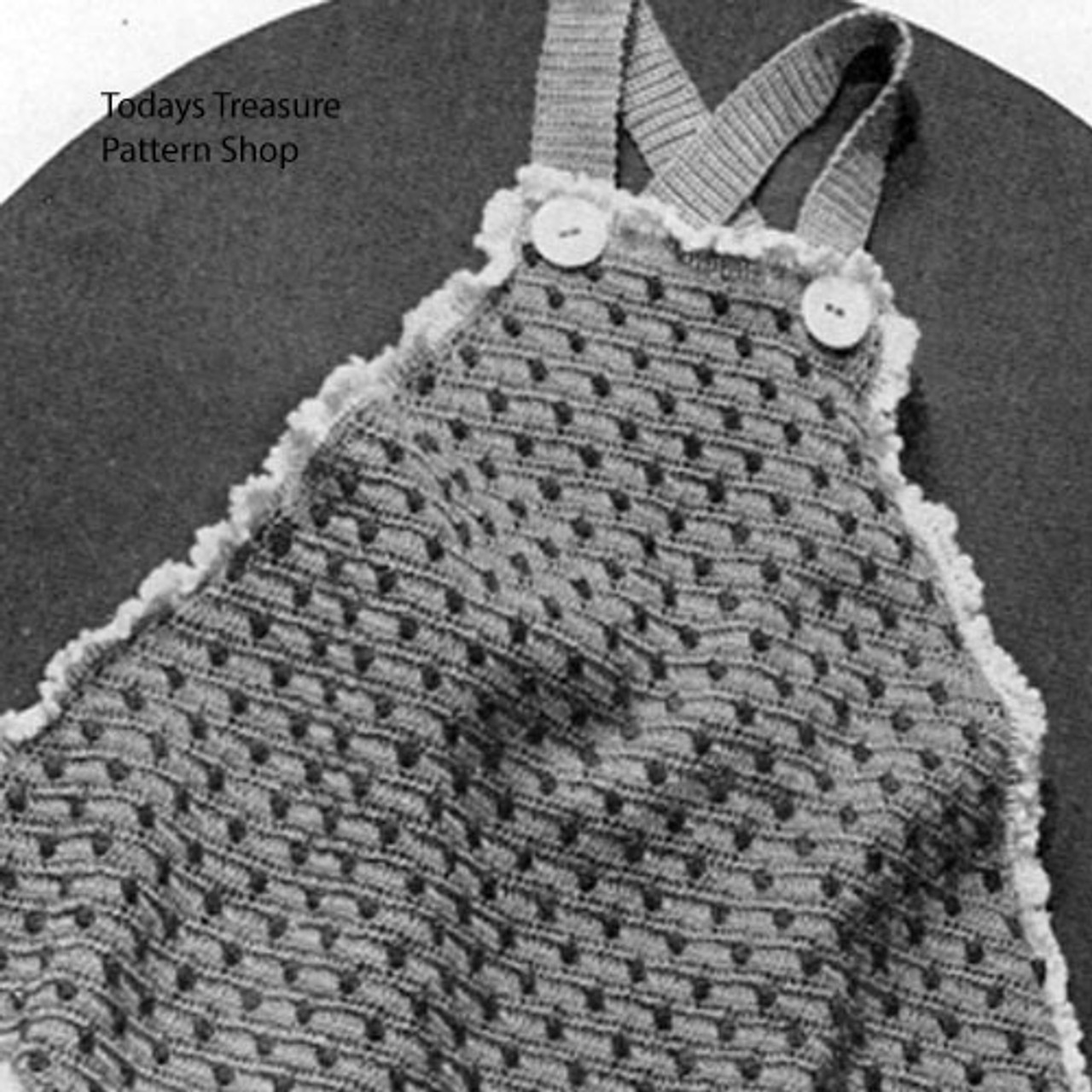 Vintage Baby Romper Crochet Pattern