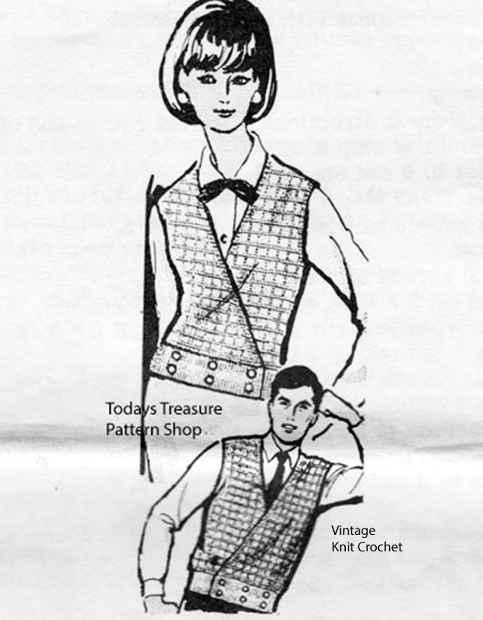 Mail Order Design 940, Knitted Vest Pattern