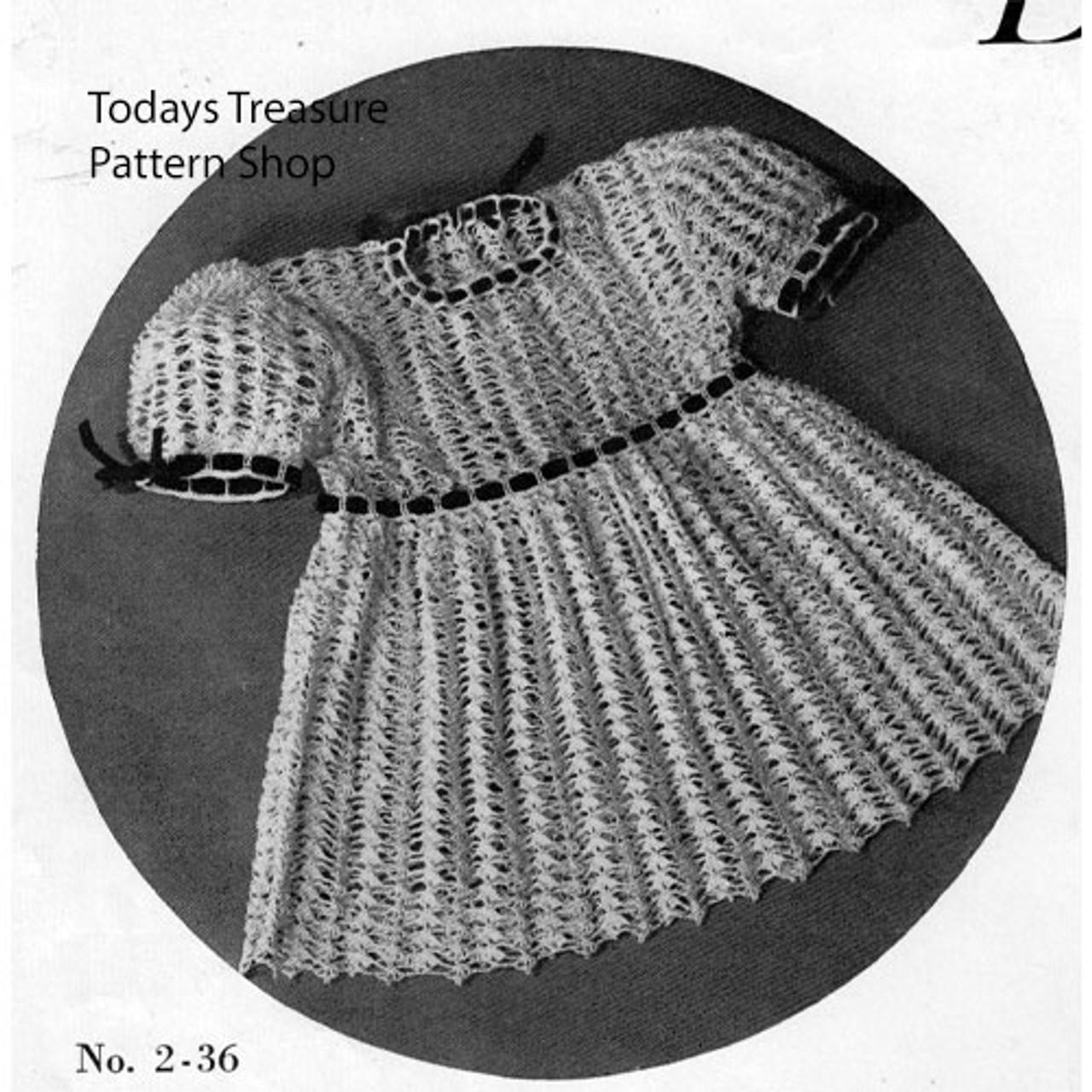 Girls Special Occasion Crochet Dress Pattern