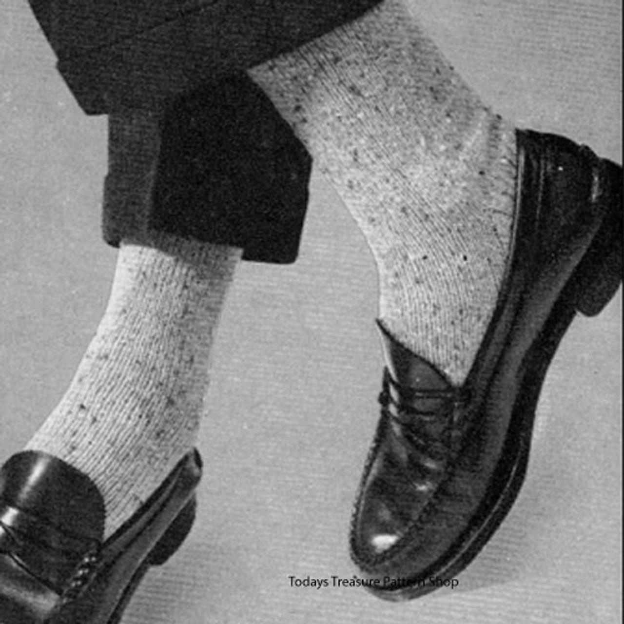 Vintage Mans Classic Socks Knitting Pattern