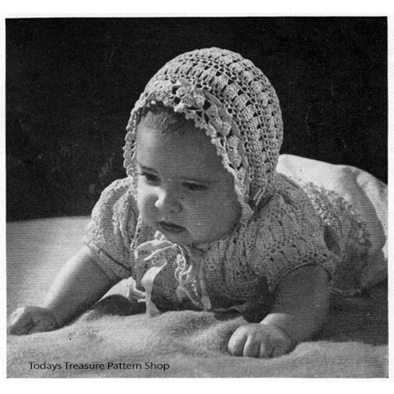 Baby Vintage Crocheted Layette Pattern