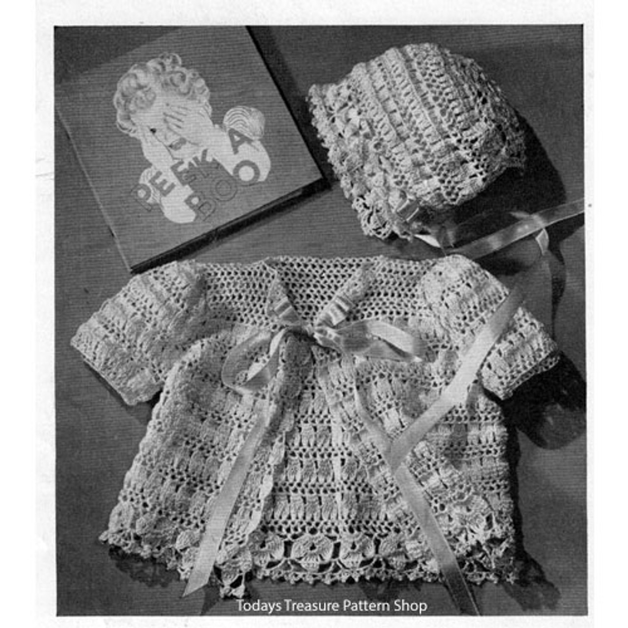 Lacy Baby Set Crochet Pattern