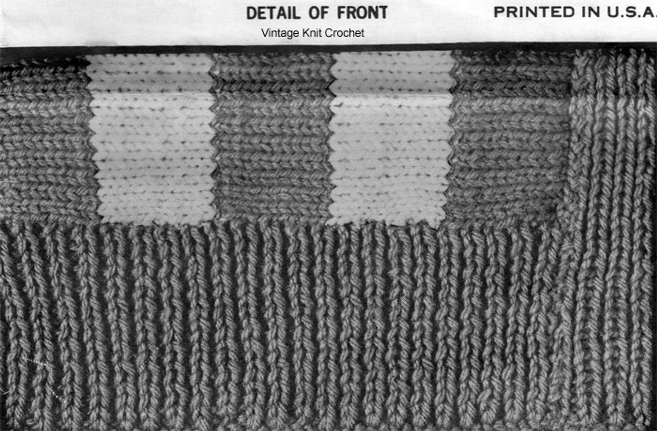 Knitted Stockinette Stitch Illustration
