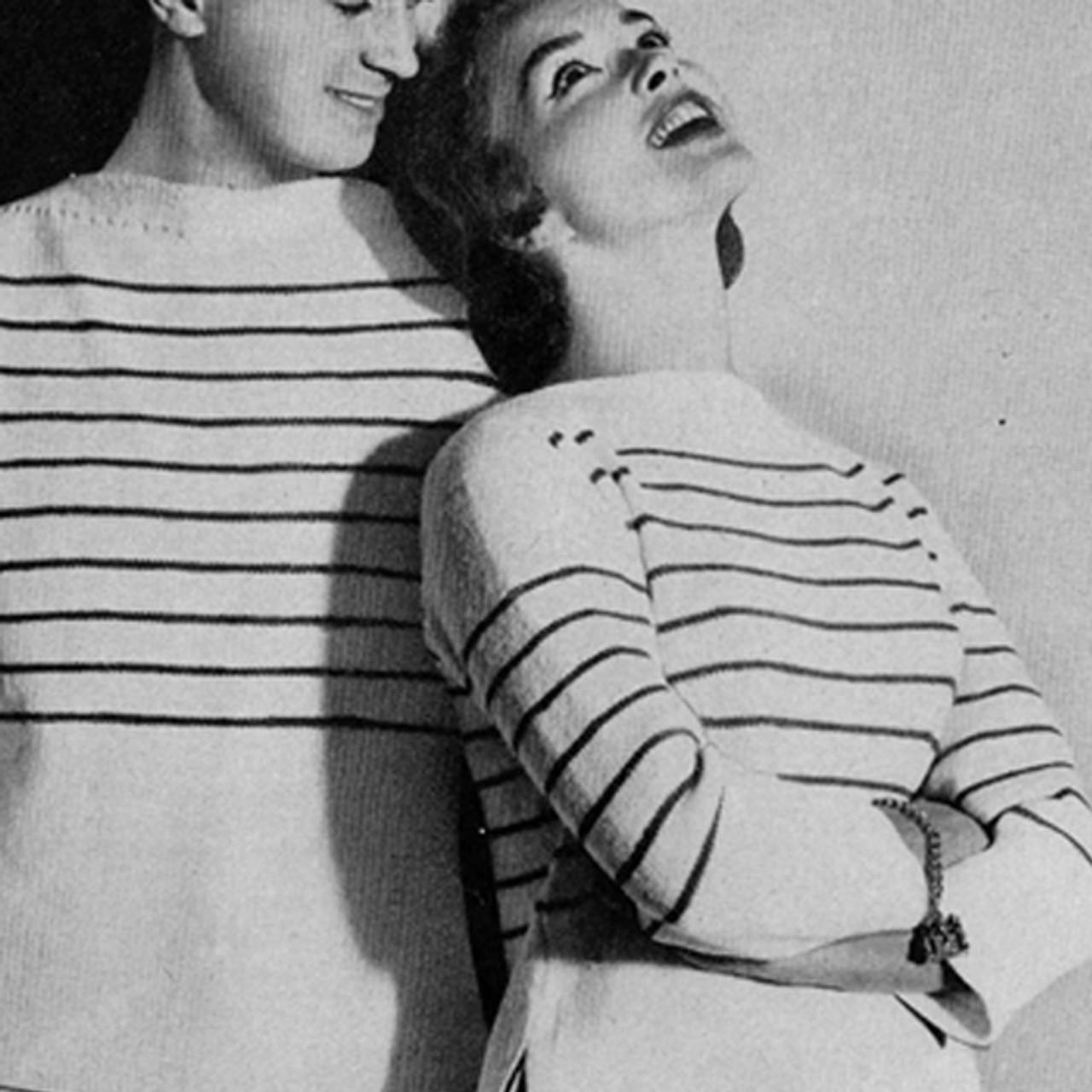 Knitting Pattern His Hers Striped Shirts Pattern