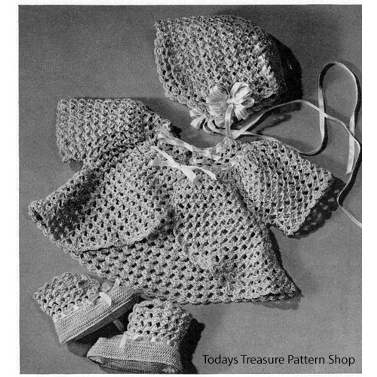Vintage Baby Set Crochet Pattern