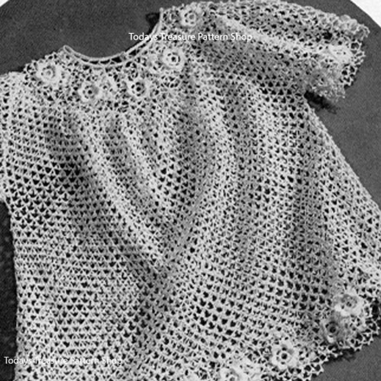 Baby Girl Crocheted Lace Dress Pattern