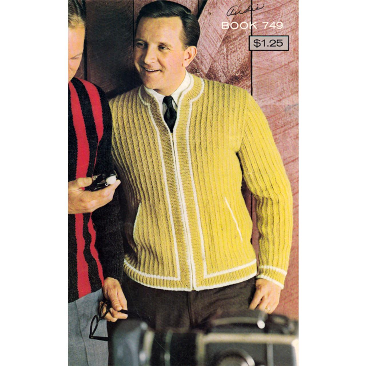 Mans Knitted Zipper Jacket Pattern