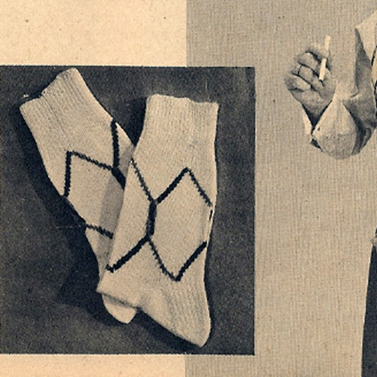 Mans Argyle Socks Knitting Pattern