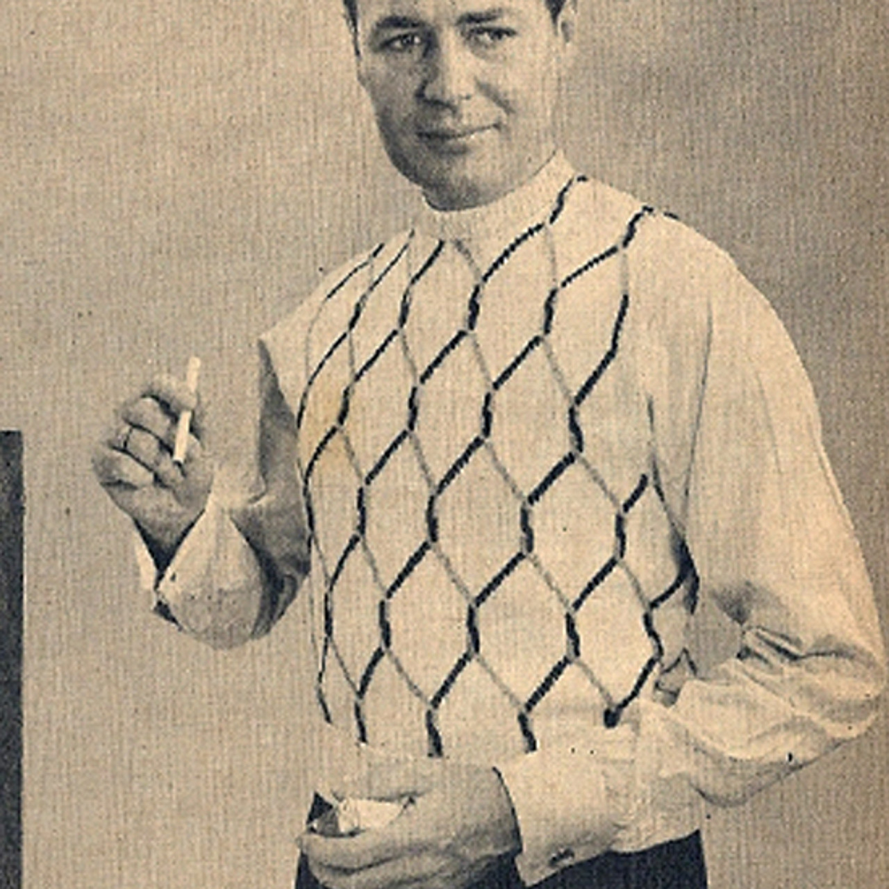 Mans Honeycomb Argyle Sweater Knitting pattern