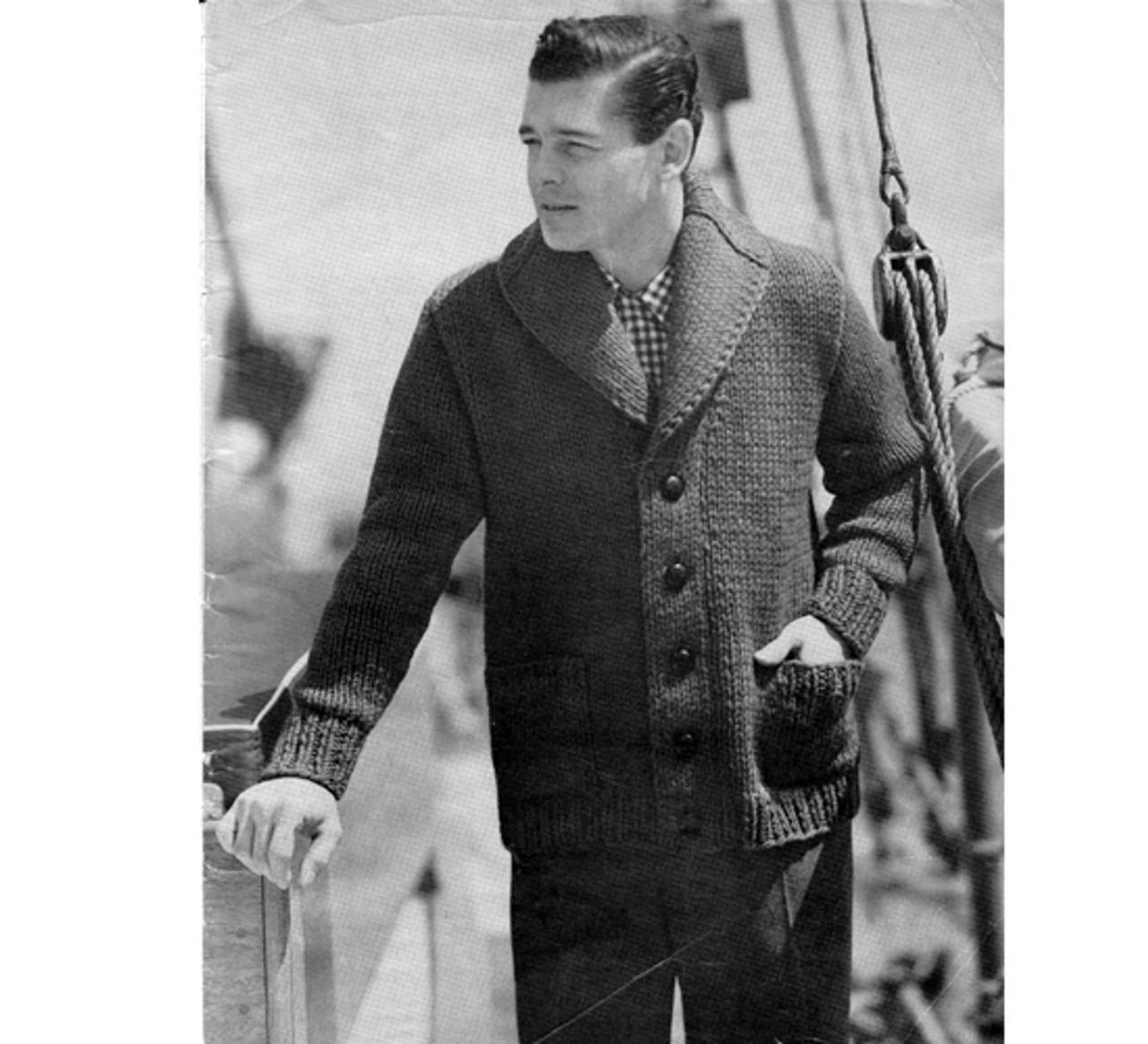 Mans Bulky Jacket Knitting Pattern