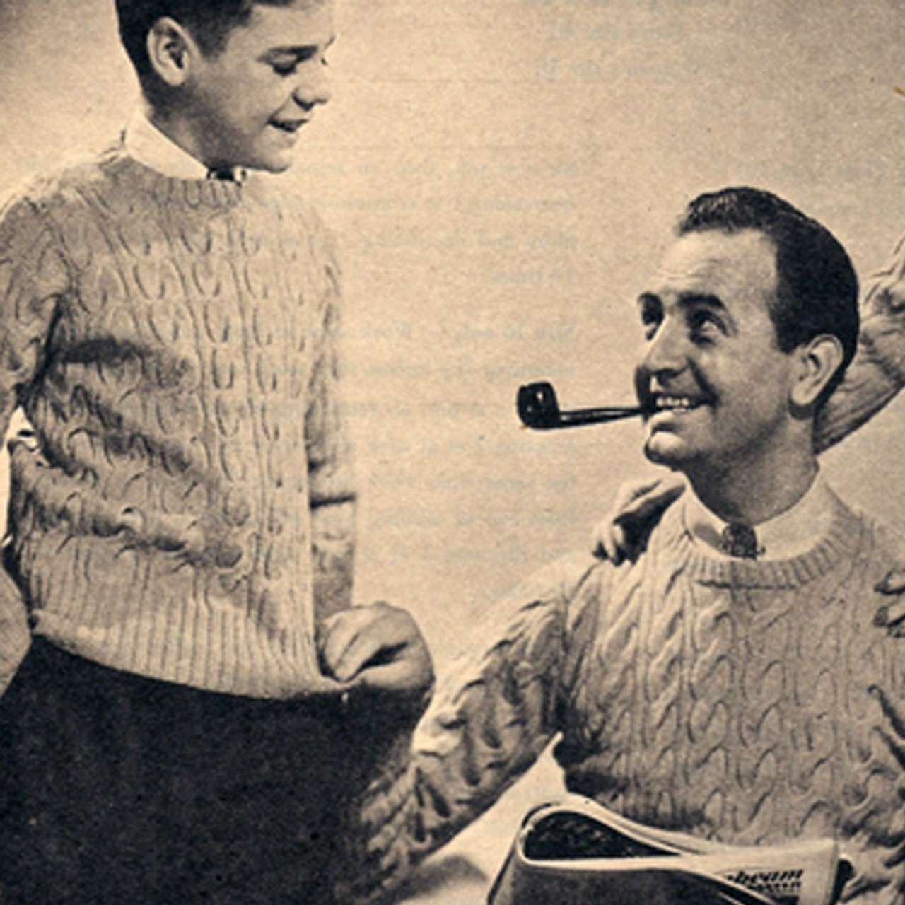 Father Son Cable Sweaters Knitting Pattern