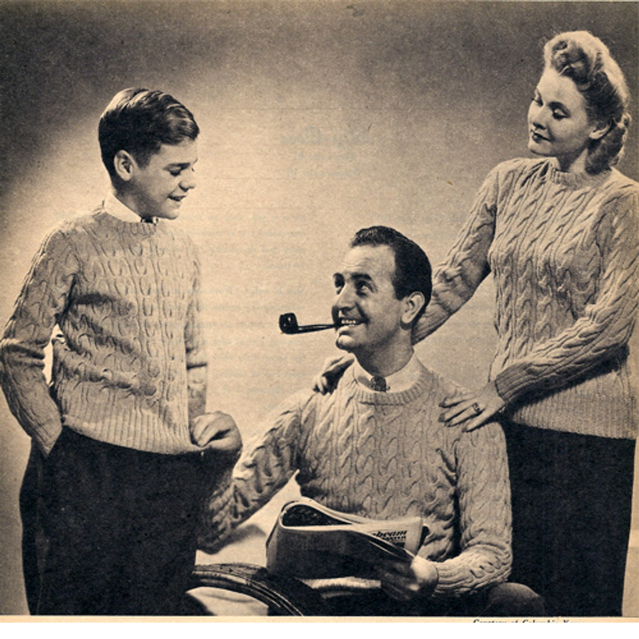 Family Knitted Cable Sweaters Pattern