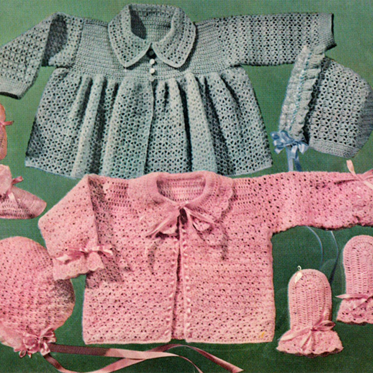 Girl Boy Crocheted Baby Sets