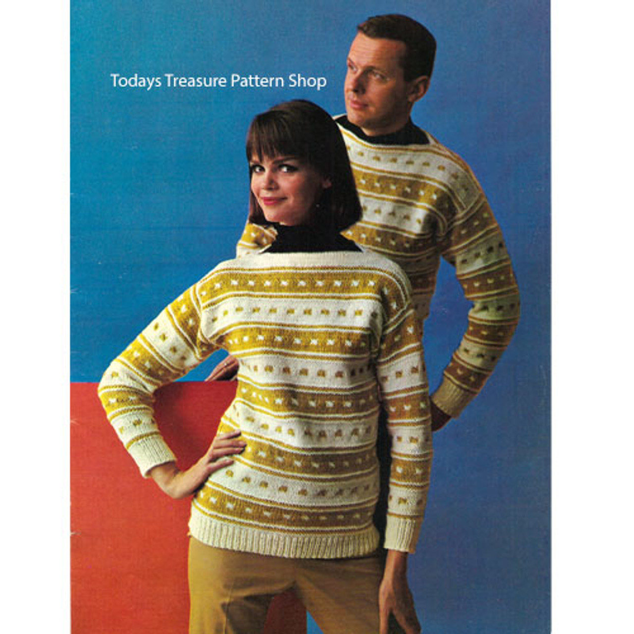 His & Hers Striped Sweaters Knitting Pattern