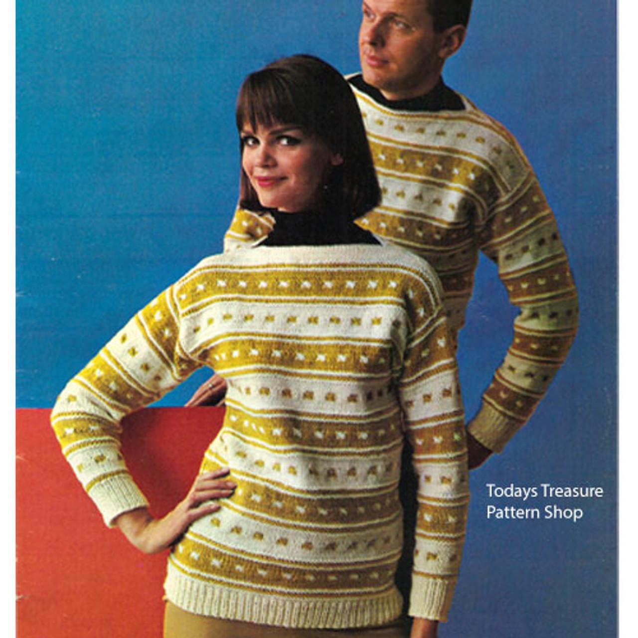 Matching Striped Sweaters Knitting Pattern